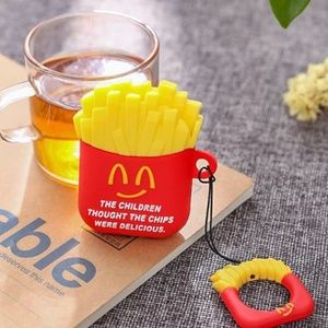 Cartoon French Fries Apple Airpods Case Cover